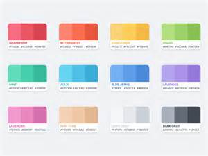 color top flat color palette by azis hertanto dribbble