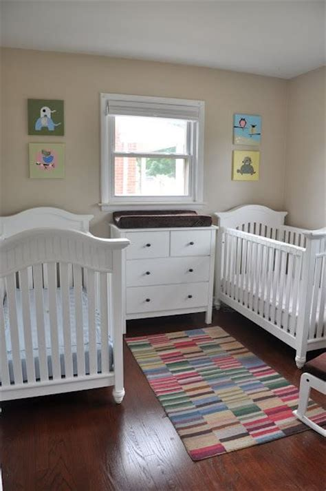 twin baby bedroom soft and colorful boy and girl twin nursery furniture
