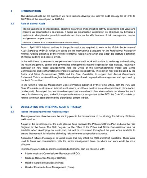 43 Sle Plans Sle Templates It Audit Plan Template