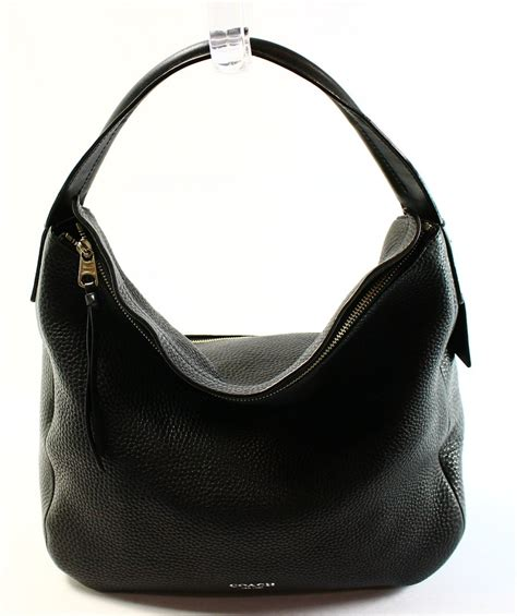 couch purse coach new black bleecker pebble leather sullivan hobo