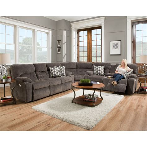 6 seat sectional sofa franklin tribute 6 seat power reclining sectional
