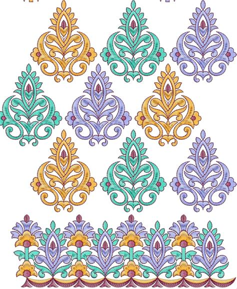 design embroidery online embdesigntube all over border embroidery designs free