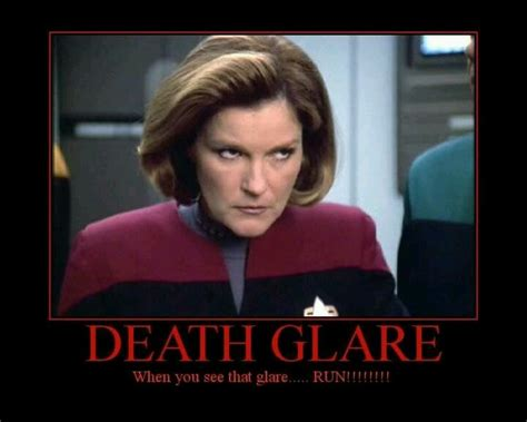 Star Trek Voyager Meme - captain kathryn janeway death glare i didn t create this