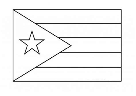 National Flag Of Puerto Rico To Color Coloring Pages Flag For Coloring