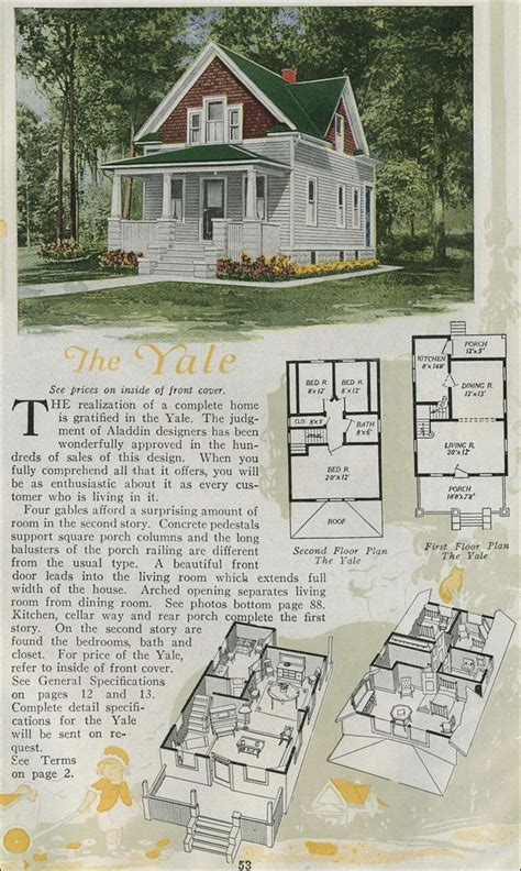 1920s home plans 1920 house plans aladdin kit houses yale american