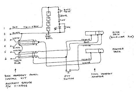 aircraft stereo headphone wiring efcaviation