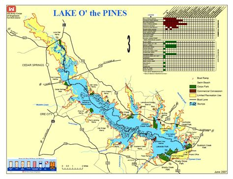map o map lake o the pines