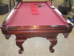 7 american heritage refelt dk billiards pool table