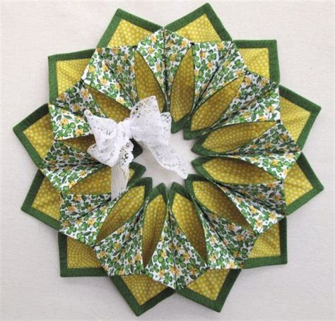 Patchwork Wreath Pattern - 17 best images about fold n stitch wreath on