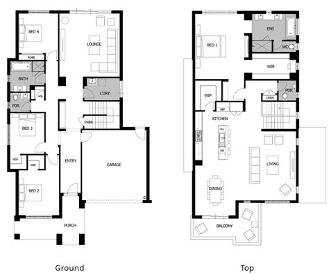 floor plan friday 2 storey living on top