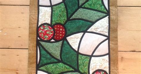 Honeysuckle Stained Glass And Patchwork - stained glass patchwork wall hanging pattern by