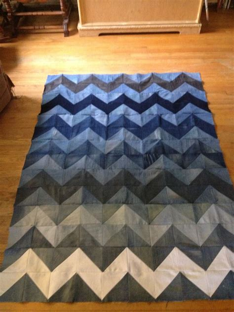 jeans blanket pattern chevron jean blanket upcycled denim denim pinterest