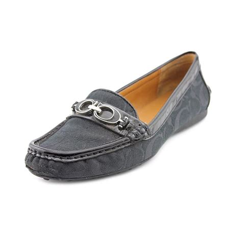 coach fortunata loafer black coach fortunata us 8 black moc loafer jet