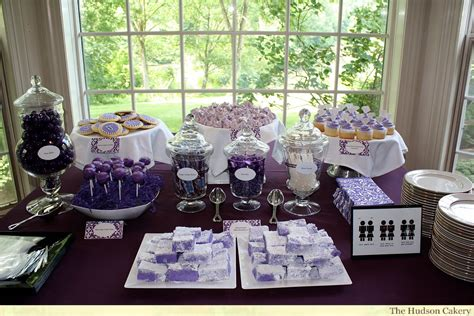 bridal shower dessert buffet the hudson cakery - Wedding Shower Dessert Ideas