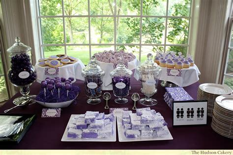 Bridal Shower Dessert Buffet   The Hudson Cakery