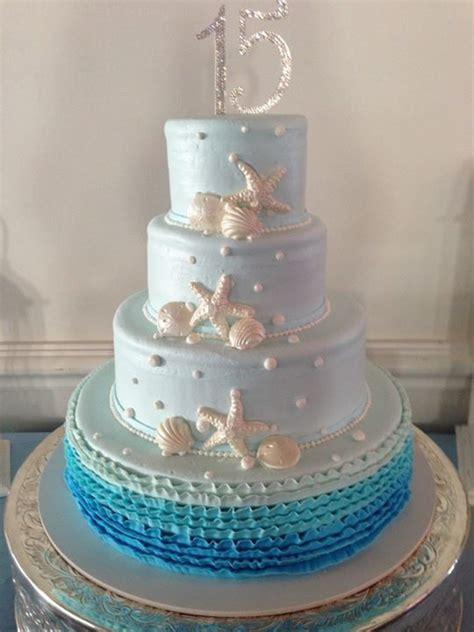 beach theme cake stephanies quinceanera   quinceanera centerpieces quinceanera