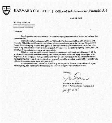 Harvard College Acceptance Letter 2015 Harvard Stanford Deny Korean Student S Acceptance