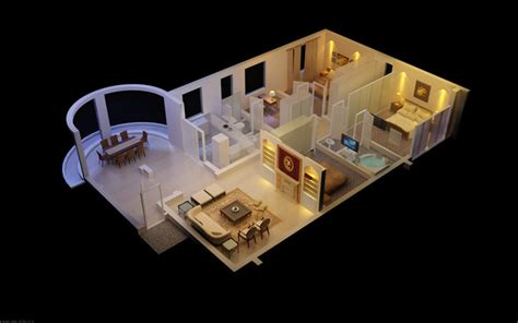 3d model designer 3d luxurious house with designer interior cgtrader