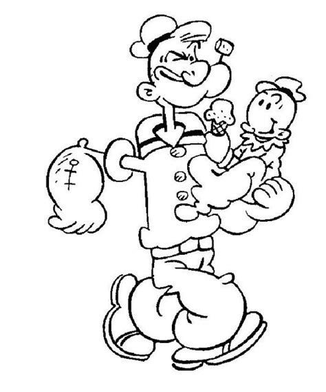 m and m coloring pages popeye cartoon characters