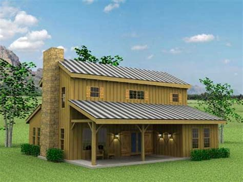 Shed Houses Plans by Barn Style Exterior With Galvanized Siding And Windows