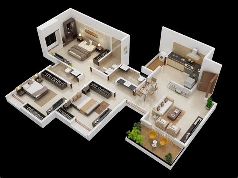 home design 3d l shaped room 25 planos geniales en 3d para distribuci 243 n de planta