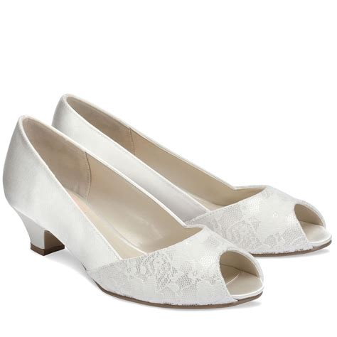 low heel wedding shoes weddings lace wedding shoes 1 25 low heel peep toe