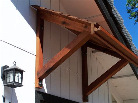 wooden door awning if u want wood working plan ideas build wood awning frame