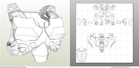 iron foam armor templates halo 5 iv armor foam pepakura eu