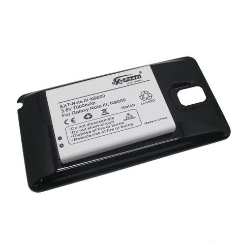 Samsung Note 3 N9000 Baterai Power Battery 4000 Mah Log On ext power extended battery 7000mah for samsung galaxy note