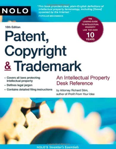 patent copyright trademark an intellectual property desk reference books patent copyright trademark an intellectual property