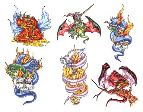 coloured dragon tattoo designs coloured design img30 171 dragons 171 classic