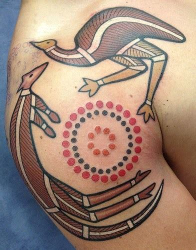 australian aboriginal tattoo designs kangaroo aboriginal tattoos on shoulder