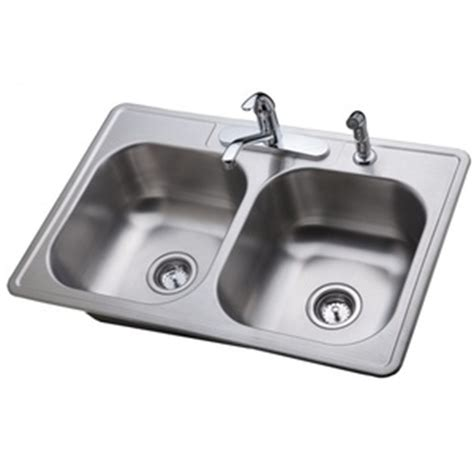 Proflo Pfcs100 Stainless Steel Double Bowl Kitchen Sink Proflo Kitchen Sinks