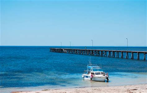 boat landing jetty marion bay south australia best holiday information
