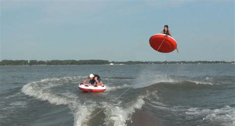 crazy boat tubes epic tubing video sail awolnation youtube