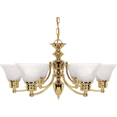 Shop Empire 6 Light Polished Brass Chandelier At Lowes Com Lowes Chandeliers