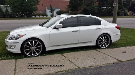 22 quot lexani lss 10 staggered on 2013 hyundai genesis r