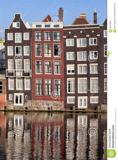 House Plans Waterfront by Row Houses In Amsterdam Stock Photo Image Of Historic