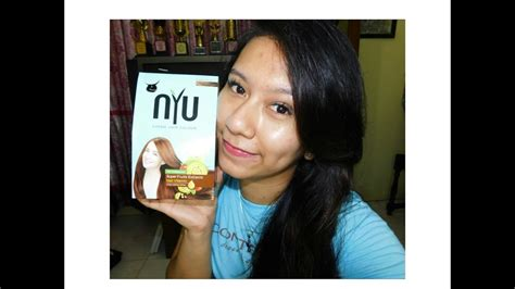 Nyu Hair Color Brown 30g review unboxing nyu creme hair colour coppery brown