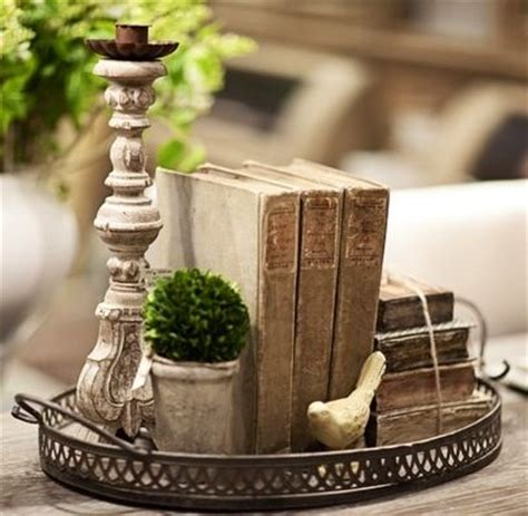 Coffee Table Decor Tray by Trays Candles And Book On