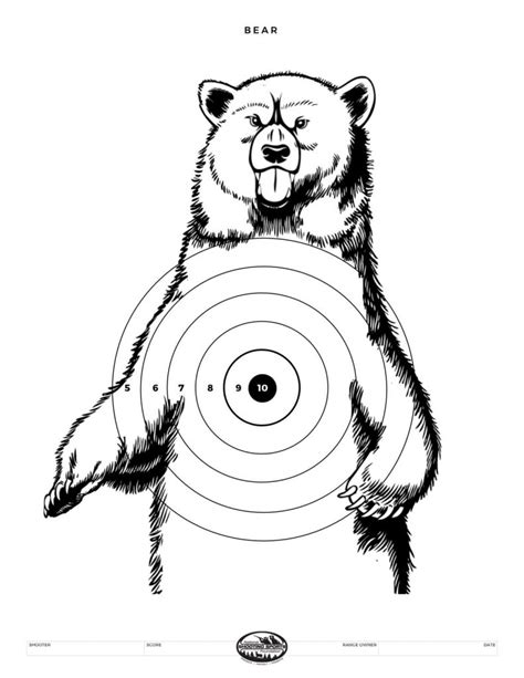 printable bear targets printable shooting targets and gun targets nssf