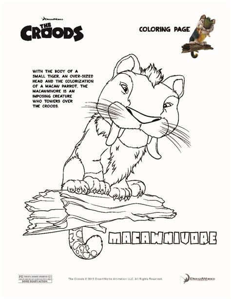 The Croods Coloring Pages Macawnivore The Croods Coloring Pages Hellokids Com by The Croods Coloring Pages