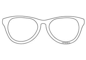 glasses template sunglasses outline clip sketch coloring page