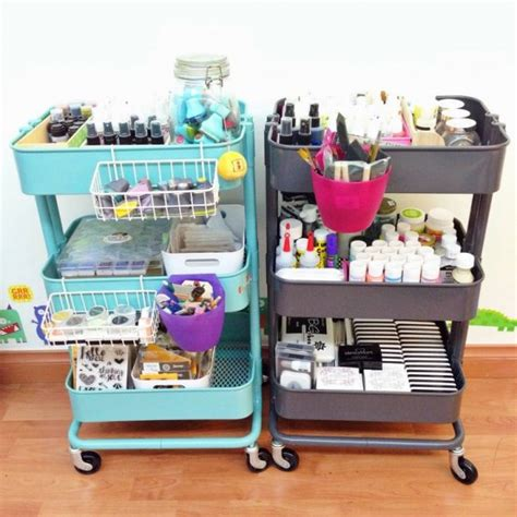 ikea craft cart 60 smart ways to use ikea raskog cart for home storage