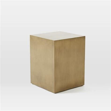 Cube Side Table Brass Cube Side Table Objects Pinterest West Elm Side Tables And Cubes