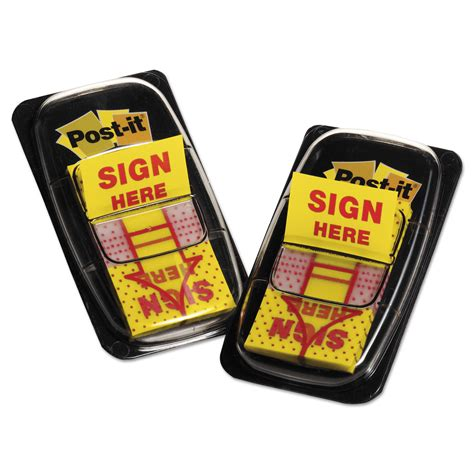 Sign Here Stickers Bulk