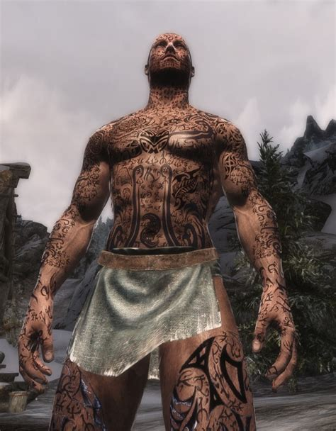 the warded man racemenu tattoo plugin at skyrim nexus