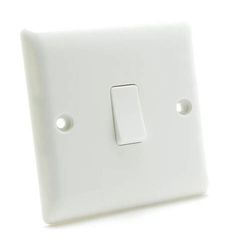 electrical accessories bg nexus white moulded 811 1 gang 1 way single plate switch