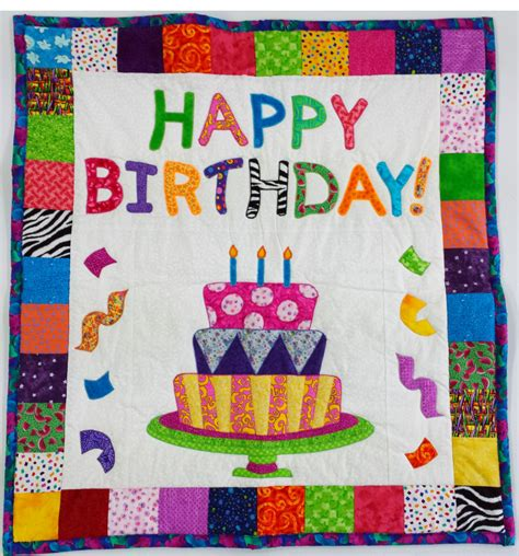 Handmade Wall Hanging For Birthday - handmade quilt quilted wall hanging happy birthday home