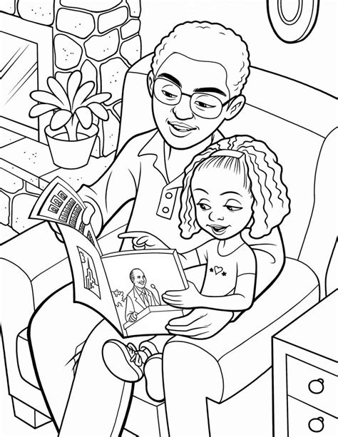 family reading coloring page father and daughter reading together from lds org